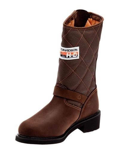 Laconia 644 Çizme| Kalın Topuklu %100 Deri Çizme-Harley Davidson